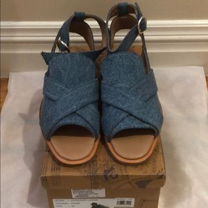 """FREE PEOPLE denim """"CATHERINE"""" loafer size 39 US 9"""